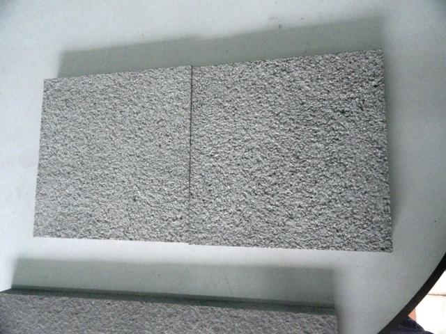 Grey sandstone bush hammered