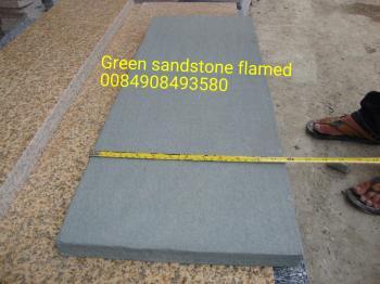 Green sandstone flamed